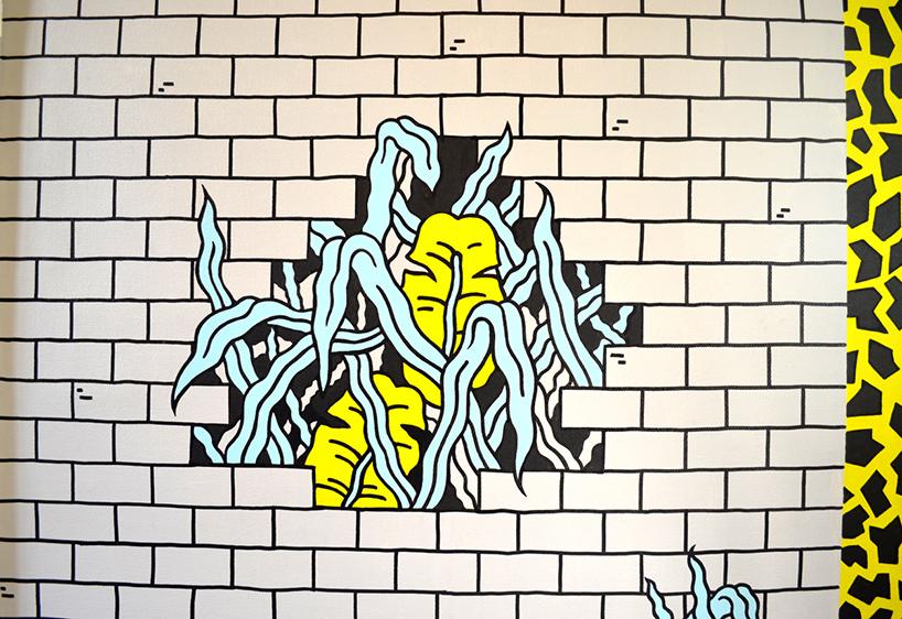 牙科学校里的炫酷朋克壁画